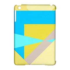 Blue Yellow Shapes                                                        apple Ipad Mini Hardshell Case (compatible With Smart Cover)