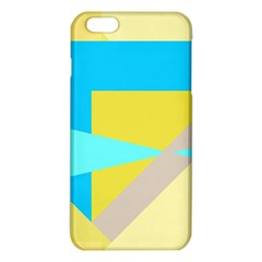 Blue yellow shapes                                                        			iPhone 6 Plus/6S Plus TPU Case