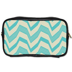 Blue waves pattern                                                         Toiletries Bag (Two Sides)