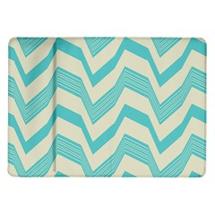 Blue waves pattern                                                         			Samsung Galaxy Tab 10.1  P7500 Flip Case