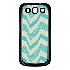 Blue waves pattern                                                         			Samsung Galaxy S3 Back Case (Black)