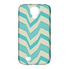 Blue Waves Pattern                                                         samsung Galaxy S4 Classic Hardshell Case (pc+silicone)