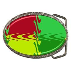 Wavy shapes                                                         Belt Buckle