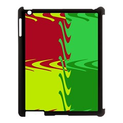 Wavy shapes                                                         			Apple iPad 3/4 Case (Black)