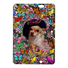 Chi Chi In Butterflies, Chihuahua Dog In Cute Hat Kindle Fire HDX 8.9  Hardshell Case