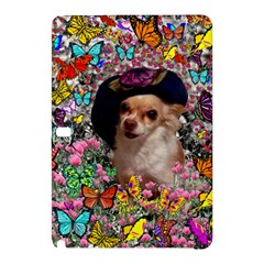 Chi Chi In Butterflies, Chihuahua Dog In Cute Hat Samsung Galaxy Tab Pro 12.2 Hardshell Case
