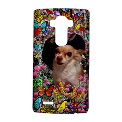 Chi Chi In Butterflies, Chihuahua Dog In Cute Hat LG G4 Hardshell Case