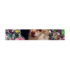 Chi Chi In Butterflies, Chihuahua Dog In Cute Hat Flano Scarf (mini)