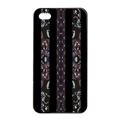 Oriental Floral Stripes Apple iPhone 4/4s Seamless Case (Black)