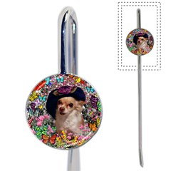 Chi Chi In Butterflies, Chihuahua Dog In Cute Hat Book Mark