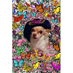 Chi Chi In Butterflies, Chihuahua Dog In Cute Hat 5.5  x 8.5  Notebooks