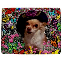 Chi Chi In Butterflies, Chihuahua Dog In Cute Hat Jigsaw Puzzle Photo Stand (Rectangular)