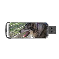 9 Month old wolf  Portable USB Flash (One Side)
