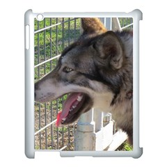 9 Month old wolf  Apple iPad 3/4 Case (White)