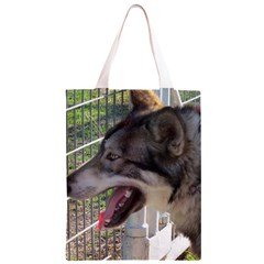 9 Month old wolf  Classic Light Tote Bag