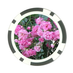 Wild Roses Poker Chip Card Guards
