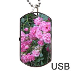 Wild Roses Dog Tag USB Flash (Two Sides)