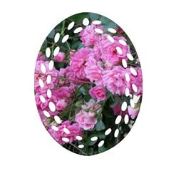 Wild Roses Ornament (Oval Filigree)