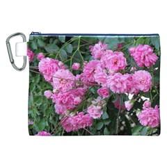 Wild Roses Canvas Cosmetic Bag (XXL)