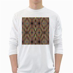 Help One One Two White Long Sleeve T Shirts