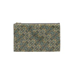Cobblestone Geometric Texture Cosmetic Bag (Small)