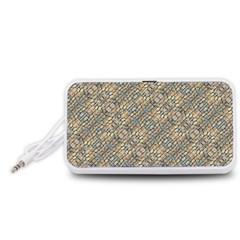 Cobblestone Geometric Texture Portable Speaker (White)