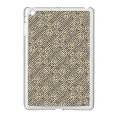 Cobblestone Geometric Texture Apple iPad Mini Case (White)