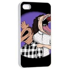 Family Portrait Of The Recently Deceased Apple iPhone 4/4s Seamless Case (White)