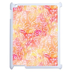 Sunny floral watercolor Apple iPad 2 Case (White)