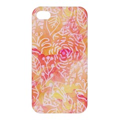 Sunny floral watercolor Apple iPhone 4/4S Hardshell Case