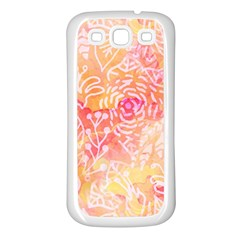 Sunny floral watercolor Samsung Galaxy S3 Back Case (White)
