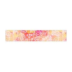 Sunny floral watercolor Flano Scarf (Mini)
