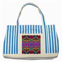 DONOVAN Striped Blue Tote Bag