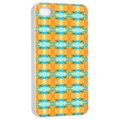 Dragonflies Summer Pattern Apple iPhone 4/4s Seamless Case (White)