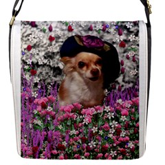 Chi Chi In Flowers, Chihuahua Puppy In Cute Hat Flap Covers (S)