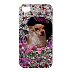 Chi Chi In Flowers, Chihuahua Puppy In Cute Hat Apple iPhone 4/4S Hardshell Case