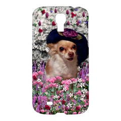 Chi Chi In Flowers, Chihuahua Puppy In Cute Hat Samsung Galaxy S4 I9500/I9505 Hardshell Case