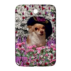 Chi Chi In Flowers, Chihuahua Puppy In Cute Hat Samsung Galaxy Note 8.0 N5100 Hardshell Case