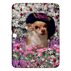 Chi Chi In Flowers, Chihuahua Puppy In Cute Hat Samsung Galaxy Tab 3 (10.1 ) P5200 Hardshell Case
