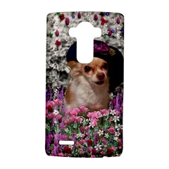 Chi Chi In Flowers, Chihuahua Puppy In Cute Hat Lg G4 Hardshell Case