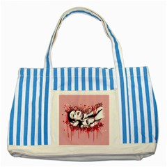 High For This Striped Blue Tote Bag