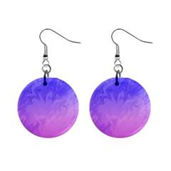 Ombre Purple Pink Mini Button Earrings