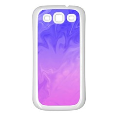 Ombre Purple Pink Samsung Galaxy S3 Back Case (White)