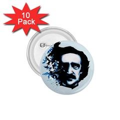 Edgar Allan Poe Crows 1.75  Buttons (10 pack)