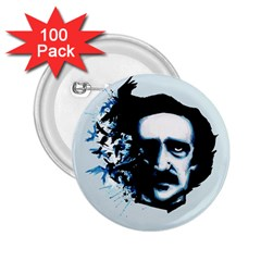 Edgar Allan Poe Crows 2.25  Buttons (100 pack)
