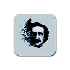 Edgar Allan Poe Crows Rubber Square Coaster (4 pack)