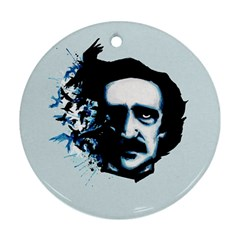 Edgar Allan Poe Crows Round Ornament (Two Sides)