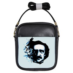 Edgar Allan Poe Crows Girls Sling Bags