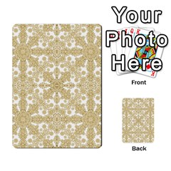 Golden Floral Boho Chic Multi-purpose Cards (Rectangle)
