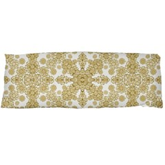 Golden Floral Boho Chic Body Pillow Case (Dakimakura)